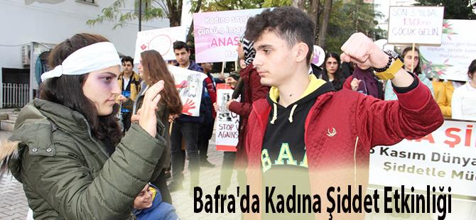 """BAFRA'DA KADINA ŞİDDETE HAYIR"""" ETKİNLİĞİ"""