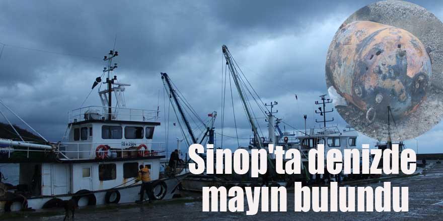 Sinop'ta denizde mayın bulundu