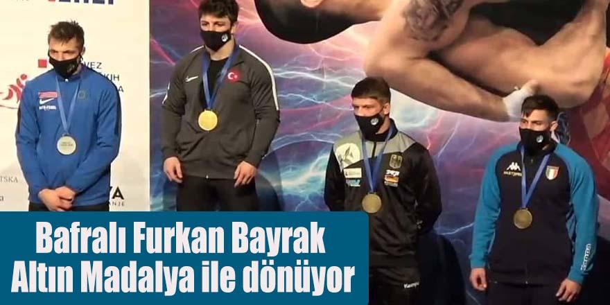 Bafralı Furkan Bayrak Altın Madalya ile dönüyor