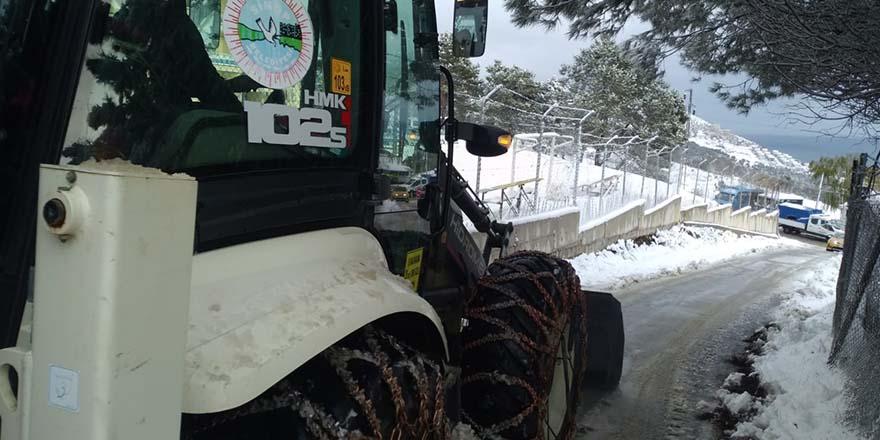 Sinop Belediyesinden Kar ile mücadele