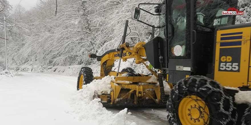 Terme'de buzlanmaya karşı tuzlama çalışmaları sürüyor