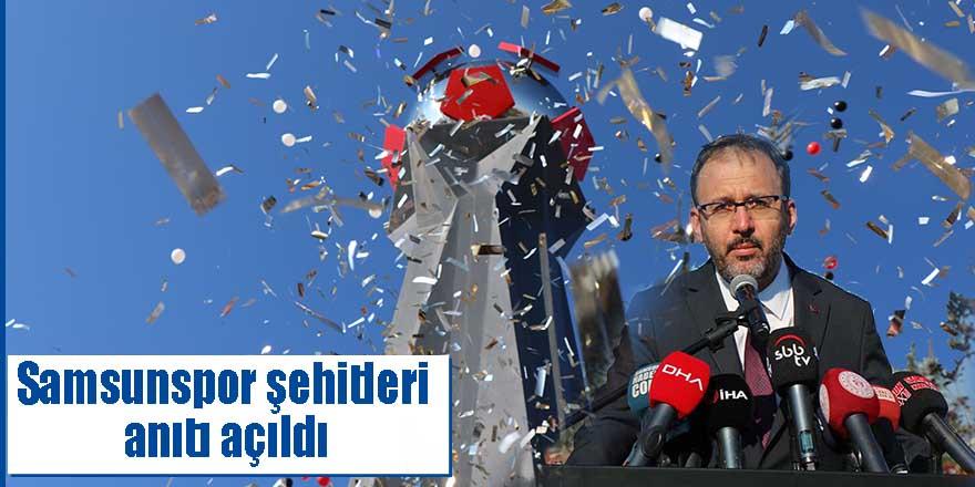 Samsunspor şehitleri anıtı açıldı