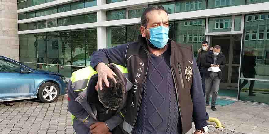 12 kilo esrarla yakalanan baba tutuklandı, kızı ve oğlu..