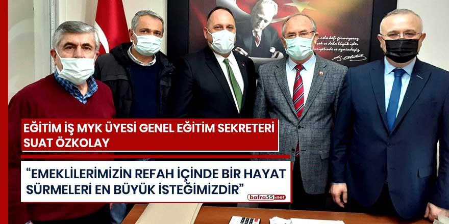 Eğitim-İş'ten Türkiye Emekliler Derneği Bafra şubesine ziyaret