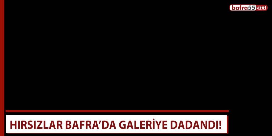 Hırsızlar Bafra'da galeriye dadandı!