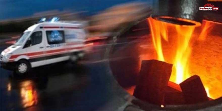Samsun'da 2 kişi sobadan sızan gazdan zehirlendi!
