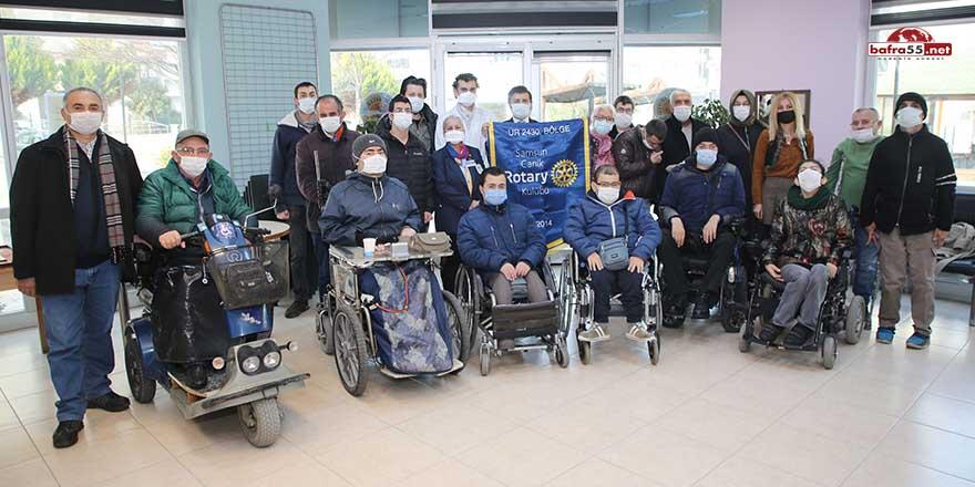 Atakum Belediyesi Engelli Yaşampark'ta diş taraması