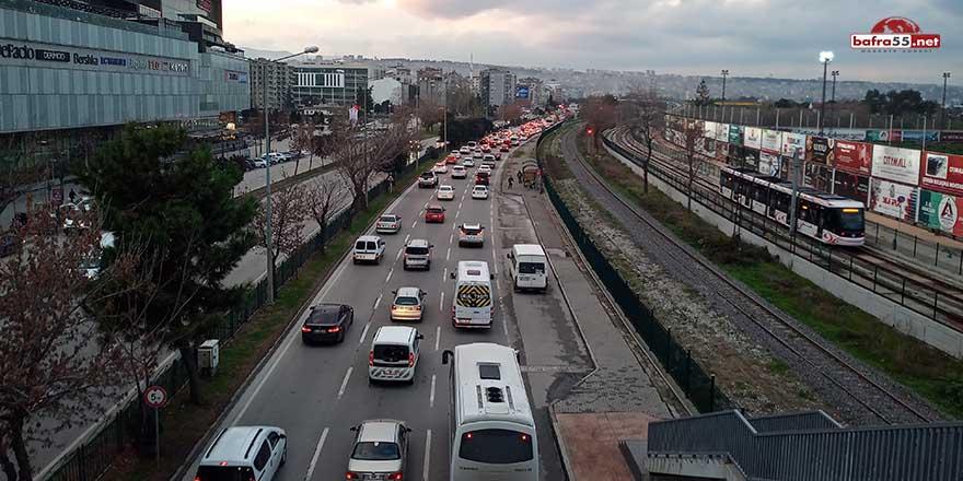 Samsun'da taşıt sayısı Aralık'ta 1326 adet arttı