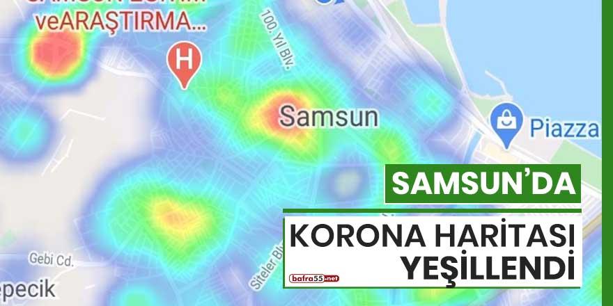 Samsun'da korona haritası yeşillendi