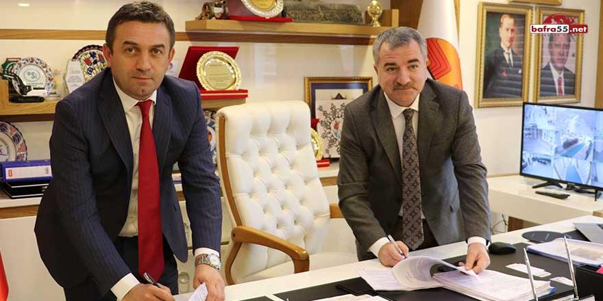 Havza Belediyesi ve Hizmet-İş Sendikası toplu iş sözleşmesi imzaladı