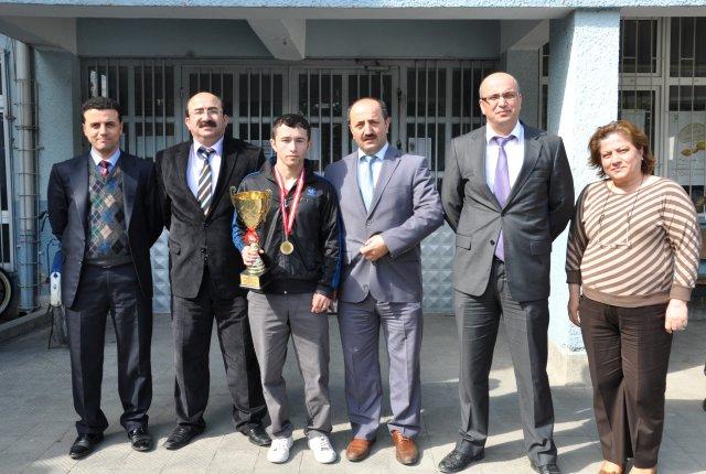 Hasan Demirkol, Bafra'nın gururu oldu!