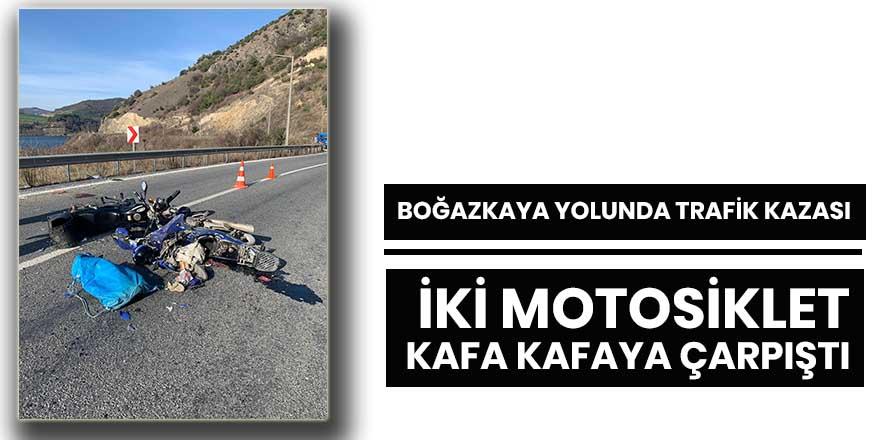 Boğazkaya yolunda trafik kazası