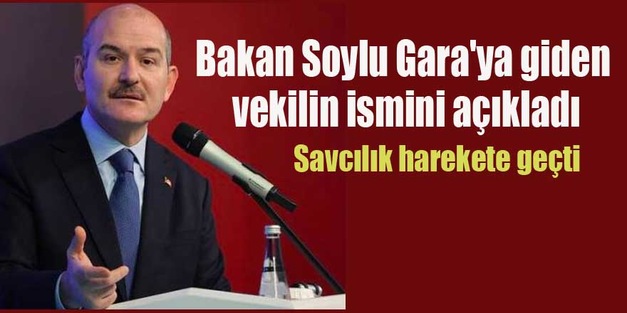 Bakan Soylu Gara'ya giden  vekilin ismini açıkladı