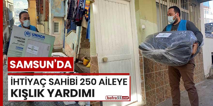 Samsun'da ihtiyaç sahibi 250 aileye kışlık yardımı