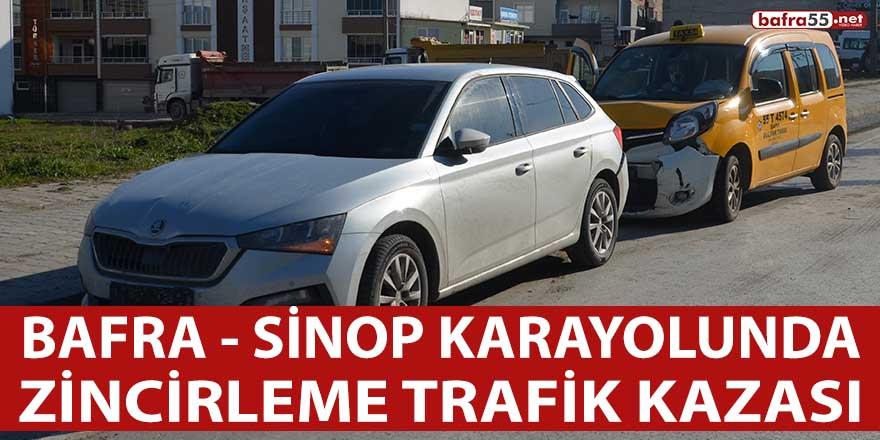 Bafra – Sinop Karayolunda trafik kazası