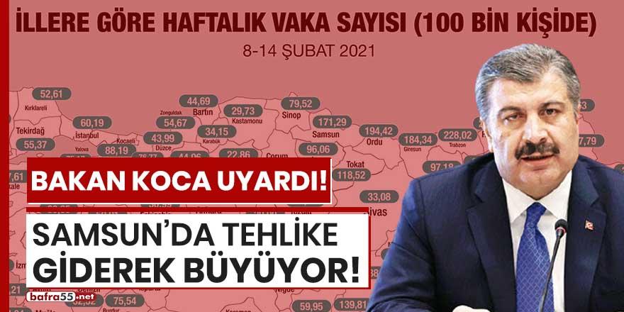 Samsun'da tehlike giderek büyüyor!