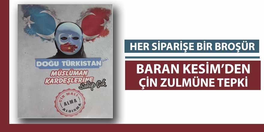 Doğu Türkistan için Bafra'da broşür dağıttılar