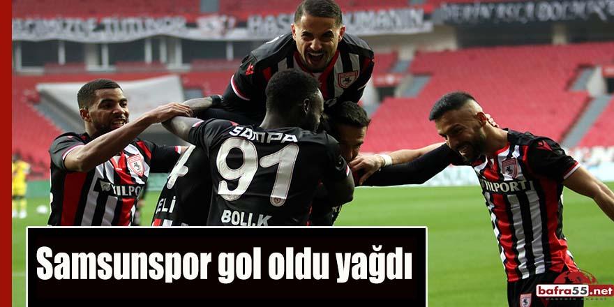 Samsunspor gol oldu yağdı