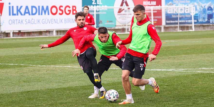 Samsunspor Keçiörengücü  maçı hazırlıklarına başladı