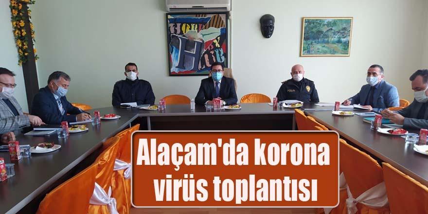 Alaçam'da korona virüs toplantısı