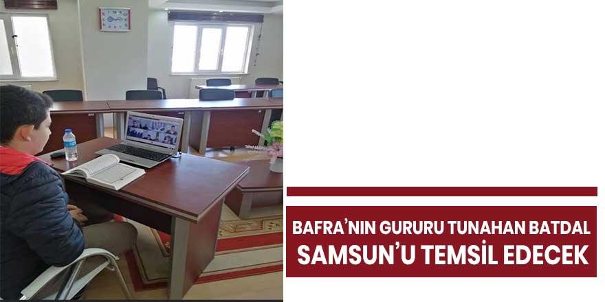 Bafra'nın Gururu Tunahan Batdal Samsun'u temsil edecek