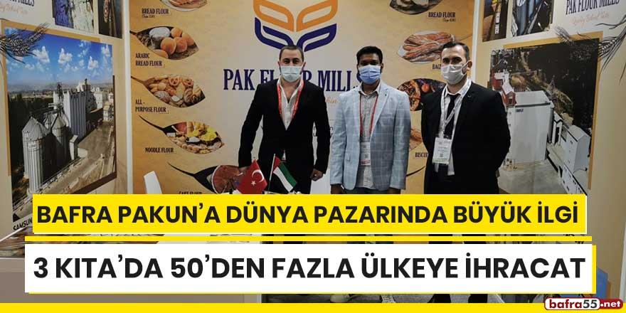 Bafra Pakun'a dünya pazarında büyük ilgi