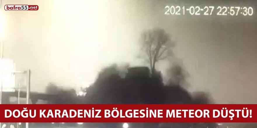 Doğu Karadeniz Bölgesine Meteor Düştü!