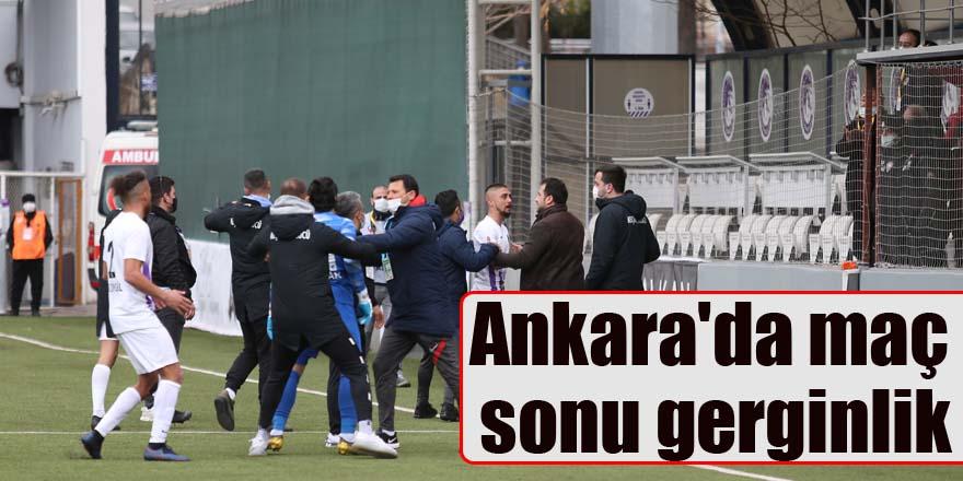 Ankara'da maç sonu gerginlik