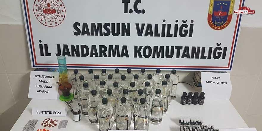 Çarşamba Jandarması'ndan kaçak içki operasyonu