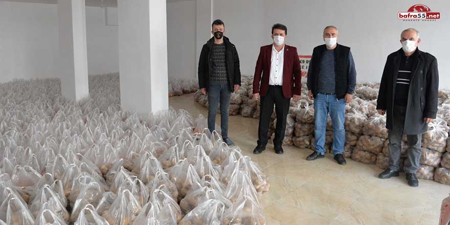 Sinop'ta dar gelirli ailelere patates ve soğan desteği