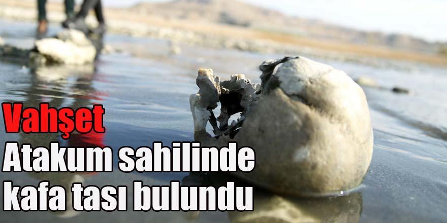 Atakum Sahilinde kafatası ve kemikler bulundu