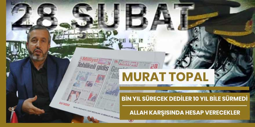 Murat Topal, Allah'ın huzurunda hesap verecekler