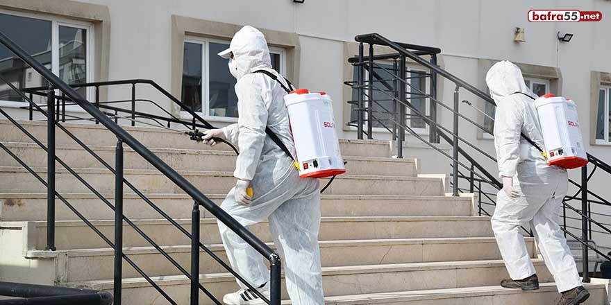 Hijyen Timi, Atakum'da 38 okulu dezenfekte etti