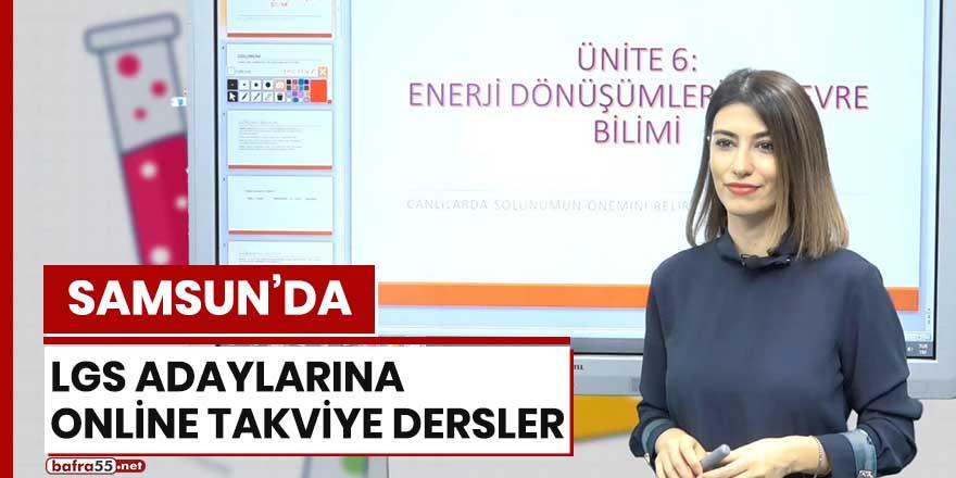Samsun'da LGS adaylarına online takviye dersler