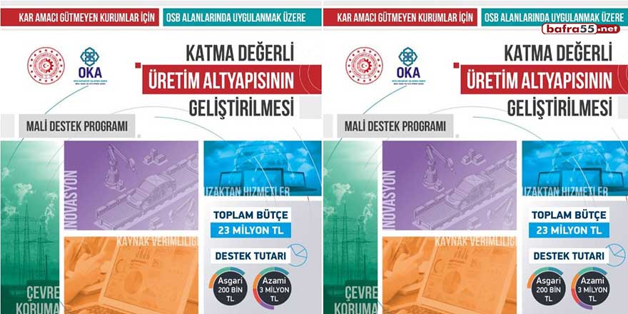 OKA'dan üretim altyapısına 23 milyonluk destek