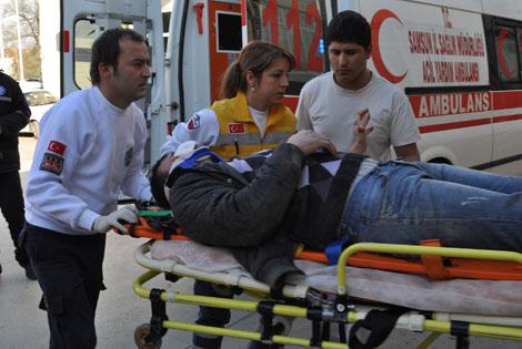 Bafra'da Minibüs ile motosiklet çarpıştı