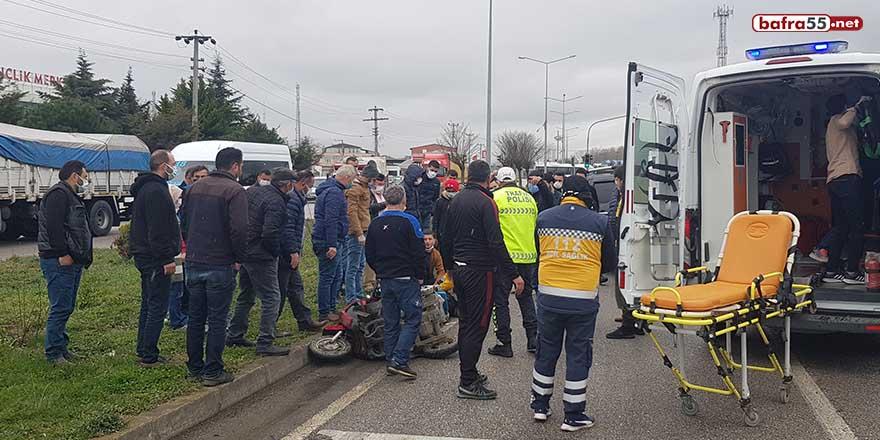 Samsun'da kamyonet elektrikli bisiklete çarptı: 1 ölü
