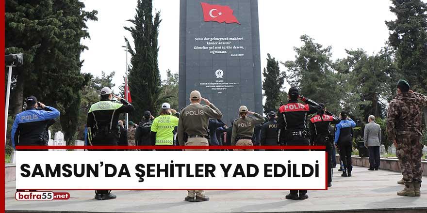 Samsun'da şehitler yad edildi