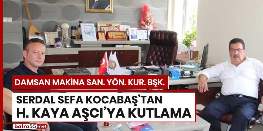 Başkan Kocabaş'tan H. Kaya Aşcı'ya kutlama