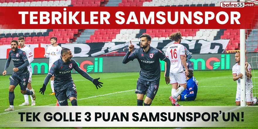 Tek golle 3 puan Samsunspor'un!