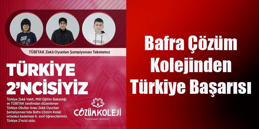 Bafra Çözüm Kolejinden Türkiye Başarısı