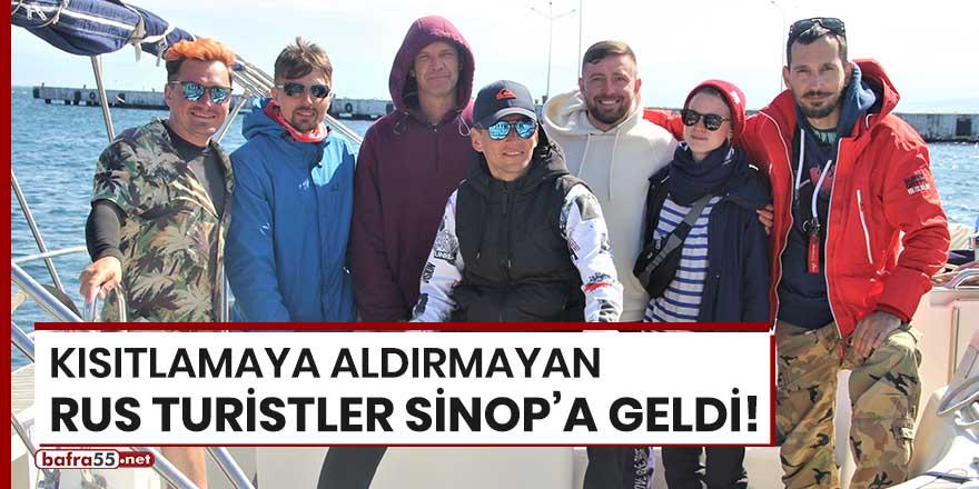 Kısıtlamaya aldırmayan Rus turistler Sinop'a geldi