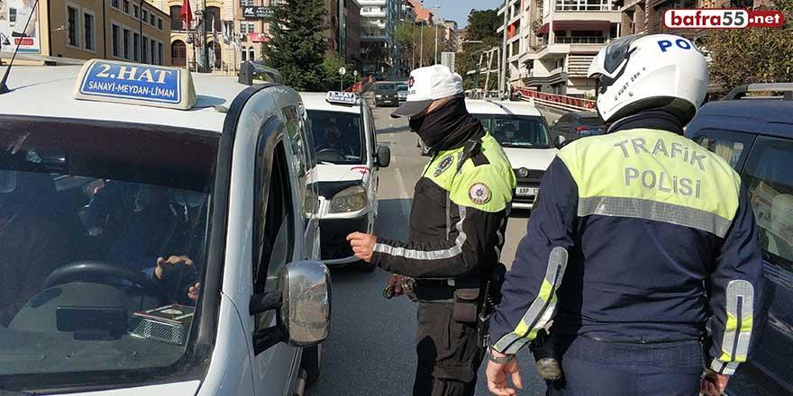 Samsun'da trafik ekiplerinden fazla yolcu denetimi