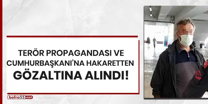 Terör propagandası ve Cumhurbaşkanı'na hakaretten gözaltına alındı!