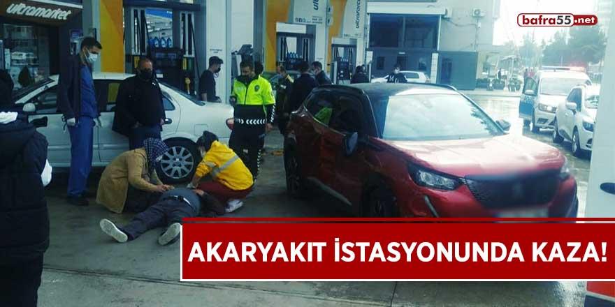 Atakum'da akaryakıt istasyonunda kaza!