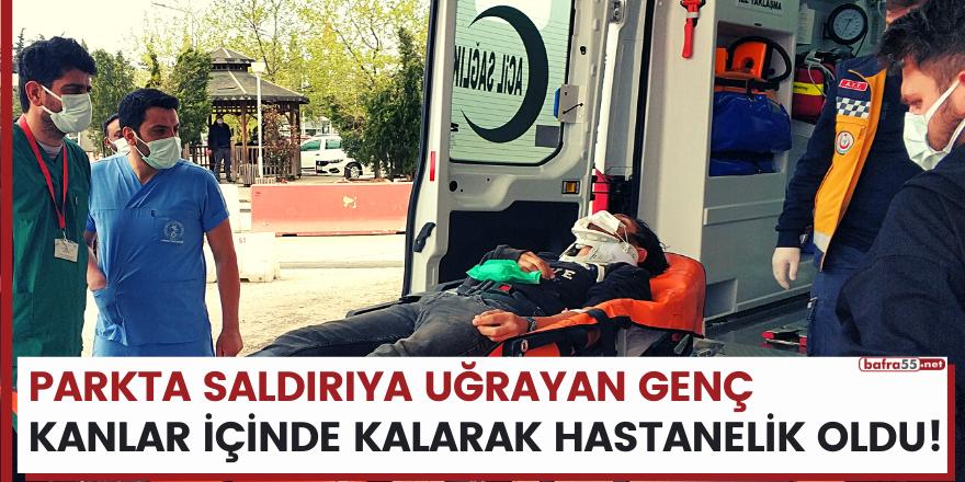 Samsun'da parkta saldırıya uğrayan 17 yaşındaki genç hastanelik oldu!