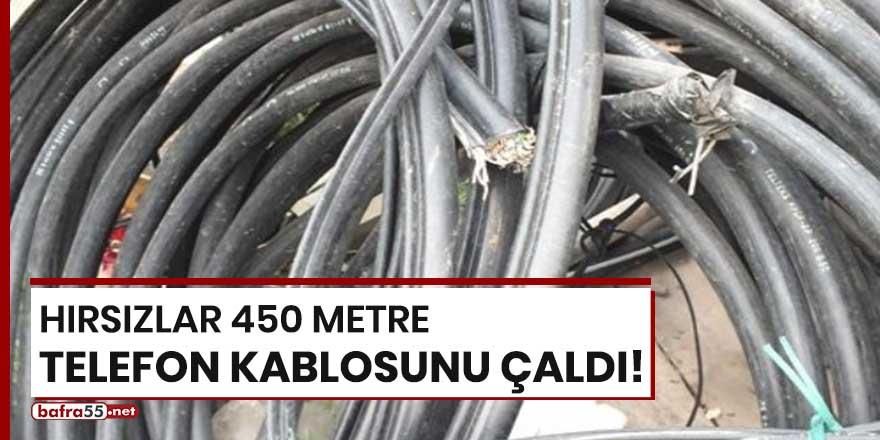 Hırsızlar 450 metre telefon kablosunu çaldı!