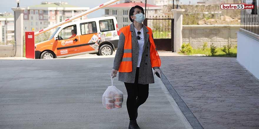 Atakum'dan karantinadaki 13 bin 783 kişiye sıcak yemek desteği