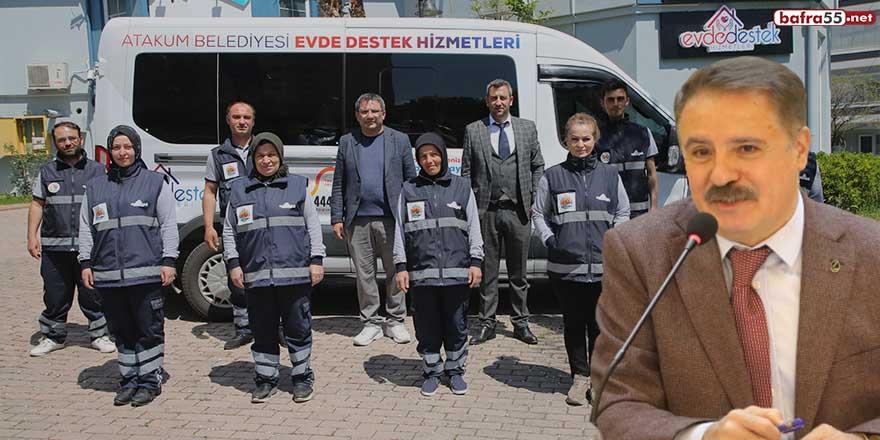 """Başkan Cemil Deveci: """"Evdeki ihtiyaçlarınızda Atakum Belediyesi yanınızda"""""""