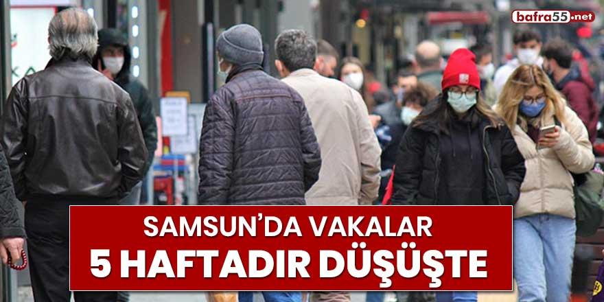 Samsun'da vakalar 5 haftadır düşüşte